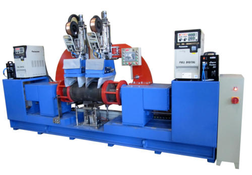 Double head circumferencial welding machine